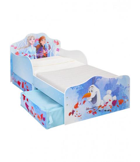 Frozen 2 Toddler Bed with Storage Plus Deluxe Foam Mattress