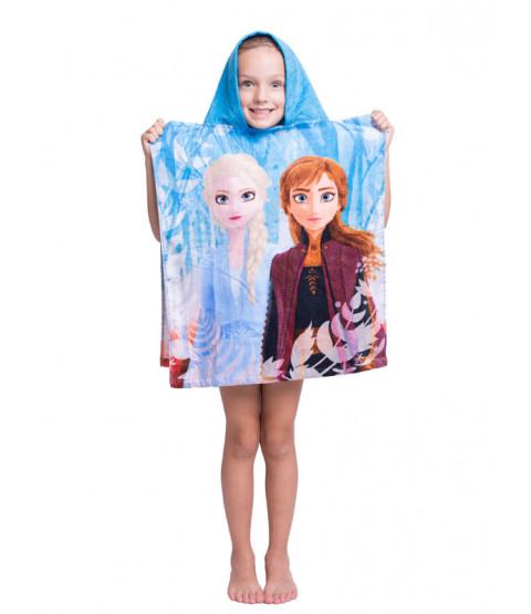 Disney Frozen 2 poncho asciugamano con cappuccio