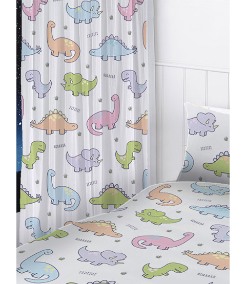 Dinosaurs Curtains 54in Drop