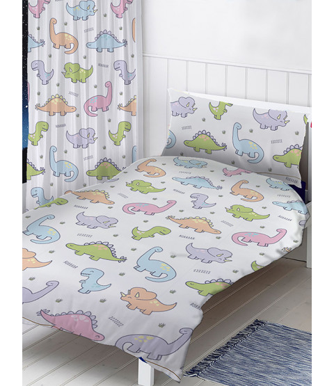 Dinosaurs Single Duvet Cover and Pillowcase Set