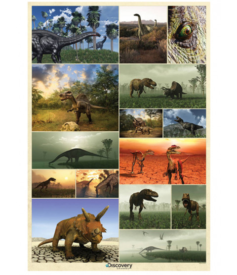 Peinture murale dinosaure Discovery Channel 232 cm x 158 cm