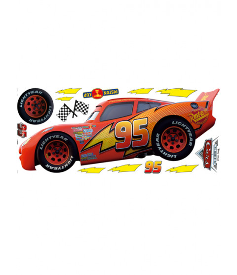 Disney Cars Lightning McQueen Large Wall Sticker