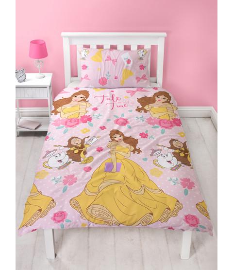 Disney Princess Belle Royal Single Reversible Duvet Cover Set