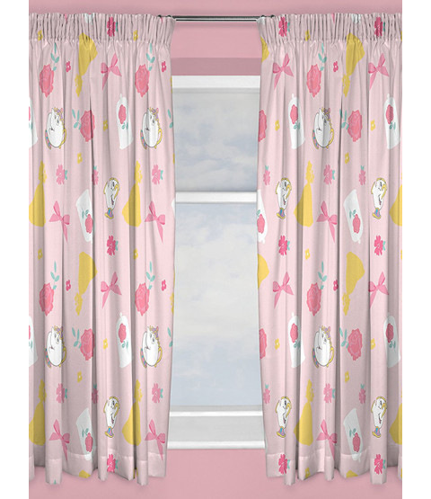 "Disney Princess Beauty and the Beast Curtains 66"" x 72"" Drop"