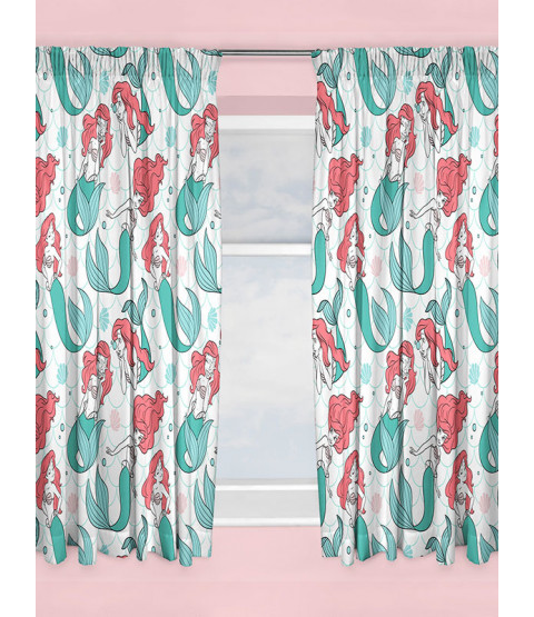 "Disney Princess Ariel Little Mermaid Curtains 72"" Drop"