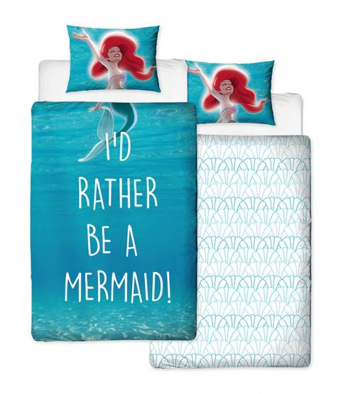 Disney Princess Ariel Little Mermaid Shellfie Single Duvet Cover Set