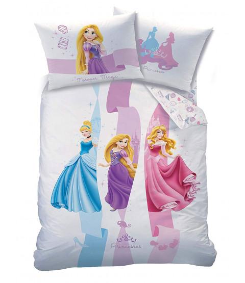 Disney Princess Ribbons Single Duvet Cover and Pillowcase Set