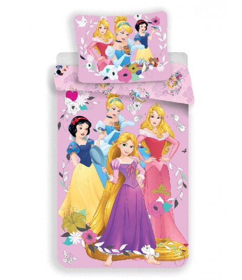 Disney Princess Pink Single Cotton Duvet Cover and Pillowcase Set - European Size