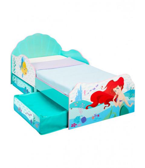 Princess Ariel Toddler Bed with Storage Bedroom