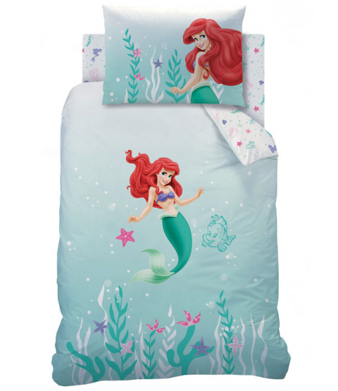 Disney Princess Ariel Under the Sea Single Duvet Cover Set