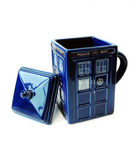 Dr Who 3D Moulded Tardis Mug with Lid