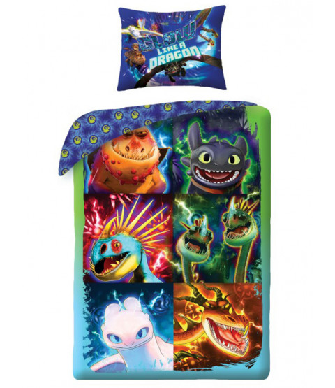 How to Train Your Dragon Glow Single Cotton Duvet Cover and Pillowcase Set