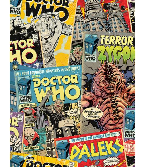 Doctor Who Retro Comic Wallpaper