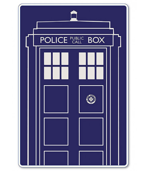 Doctor Who Tardis Fleece Blanket