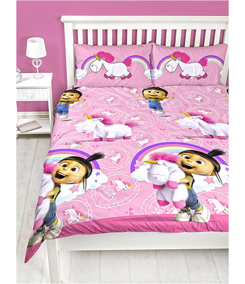 Despicable Me Daydream Fluffy Unicorn Double Duvet Set