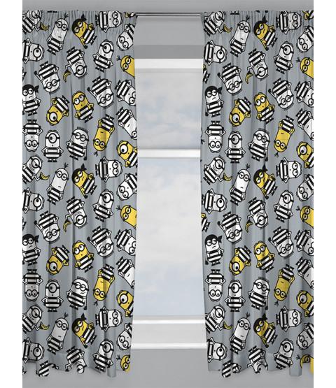 "Despicable Me Minions Jailbird Curtains 72"" Drop"