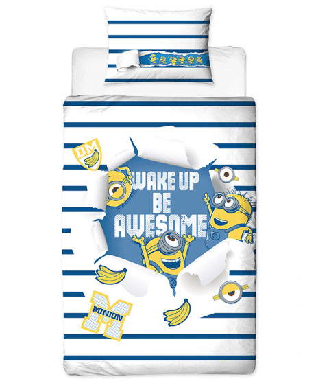 Despicable Me Minions Awesome Single Reversible Duvet Cover Set