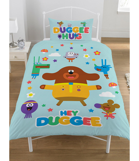 Hey Duggee Hello Squirrels Single Duvet Cover and Pillowcase Set