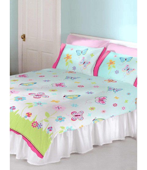 Butterfly Garden Double Duvet Cover and Pillowcase Set