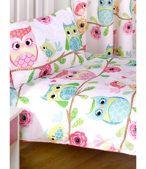 Owl and Friends Junior Toddler Duvet Cover & Pillowcase Set