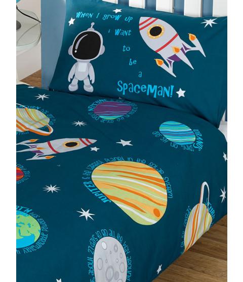 Pianeti del sistema solare e set copripiumino singolo spaziale