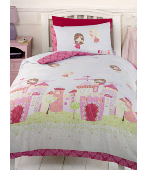 Fairy Castle 4 in 1 Junior Bedding Bundle - Duvet, Pillow, Duvet Cover and Pillowcase