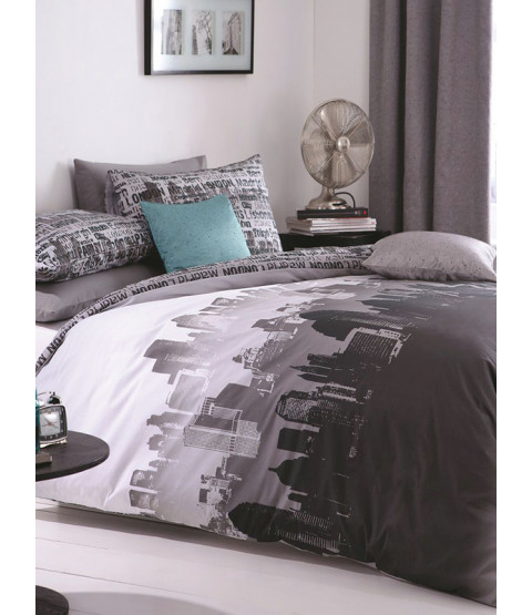 Set copripiumino Catherine Lansfield City Scape King Size