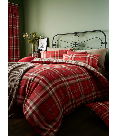 Catherine Lansfield Kelso Tartan Double Duvet Cover Set Camera da letto