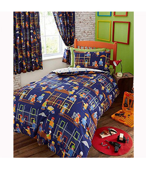 Building Site 4 In 1 Junior Bedding Bundle (Duvet, Pillow And Covers)