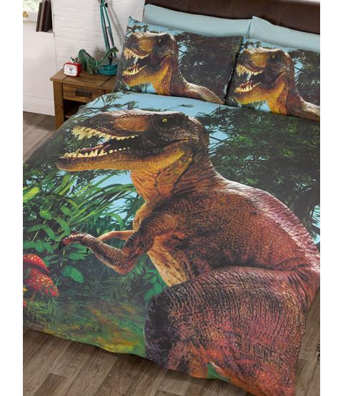 Jurassic T-Rex Dinosaur Double Duvet Cover Set