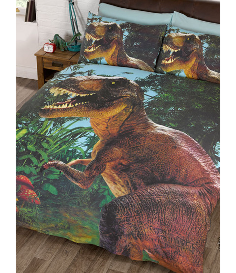 Jurassic T-Rex Dinosaur Double Copripiumino