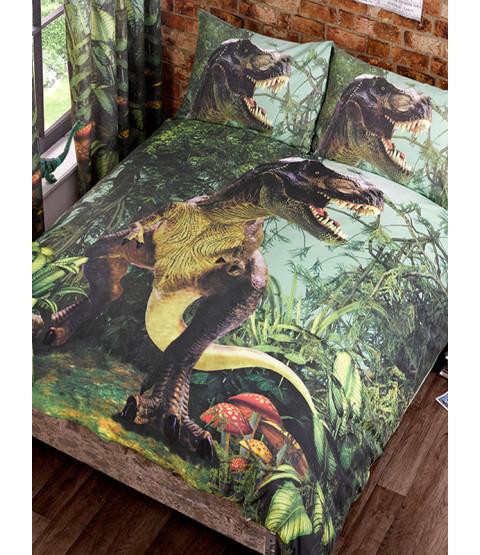 T-Rex - Juego de funda de almohada y funda de almohada de dinosaurio doble