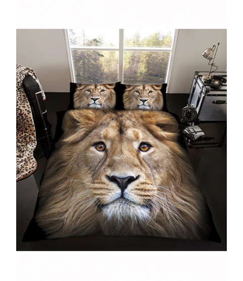 Juego de funda nórdica y funda de almohada Lion Single