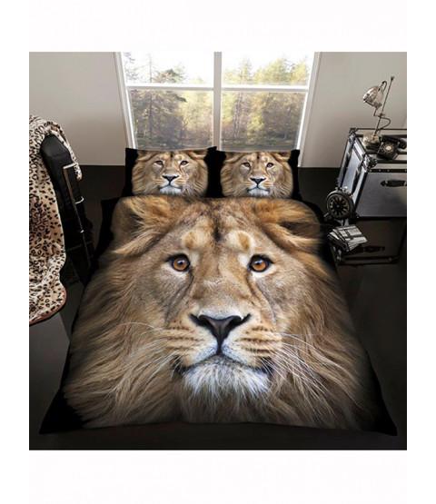 Lion Double Duvet Cover and Pillowcase Set