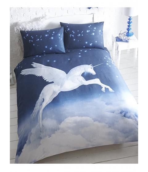 Unicorn Single Duvet Cover and Pillowcase Set