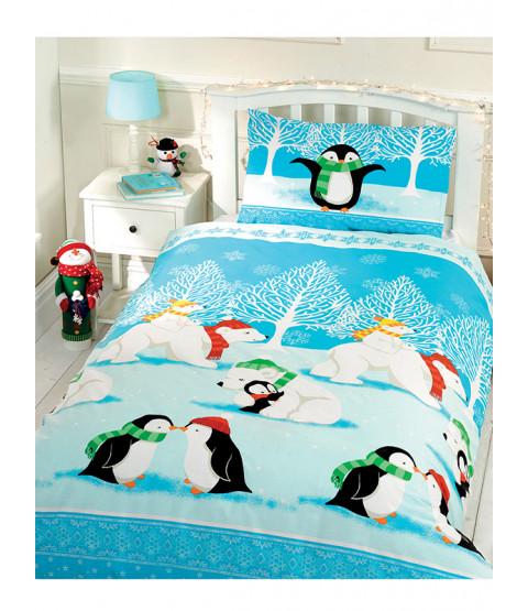 Christmas Cuddles Junior Duvet Cover and Pillowcase Set