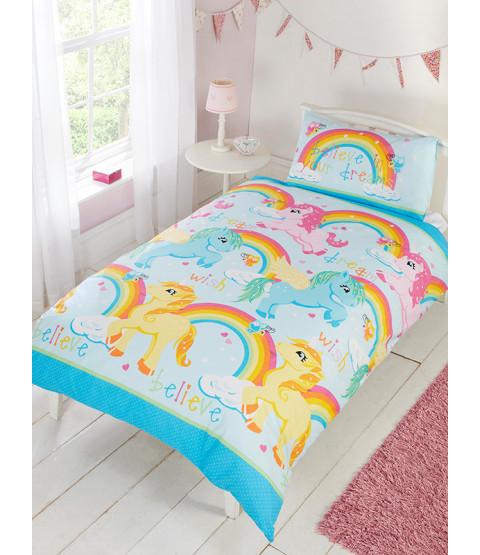 Unicorns Double Duvet Cover and Pillowcase Set