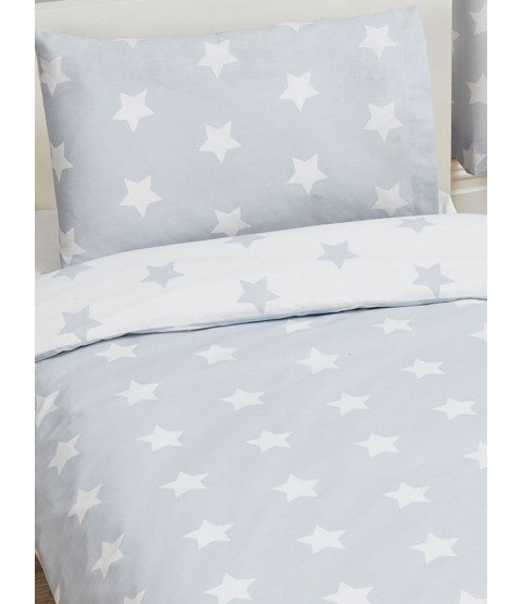 Grey and White Stars 4 in 1 Junior Bedding Bundle Set