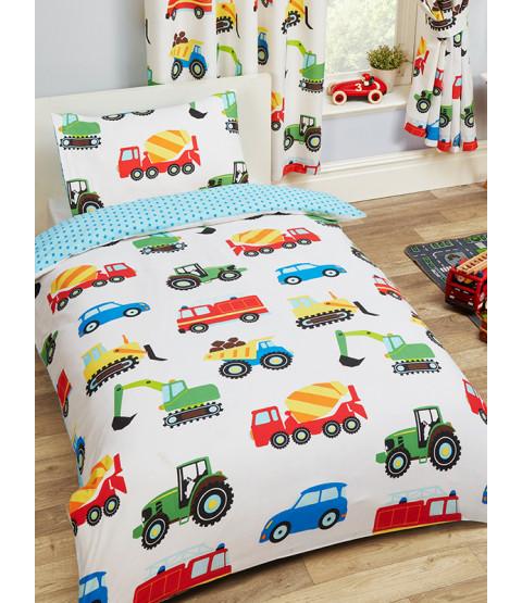 Trucks and Transport Junior Duvet Cover and Pillowcase Set