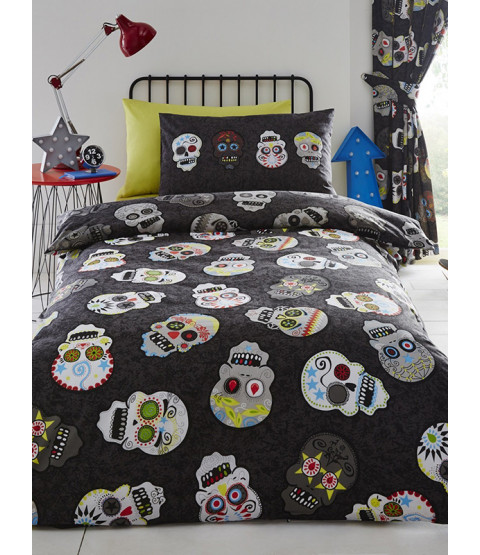 Sugar Skulls Single Duvet Cover and Pillowcase Set