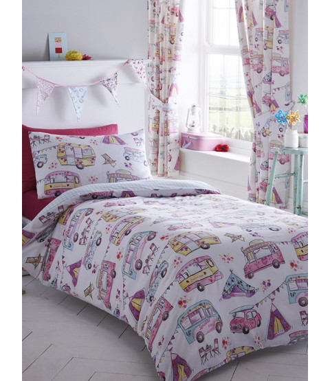 Glamping Single Duvet Cover and Pillowcase Set