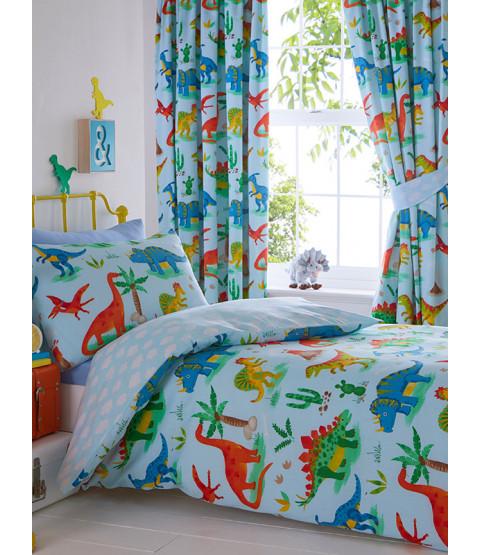 Dinosaur Single Duvet Cover and Pillowcase Set