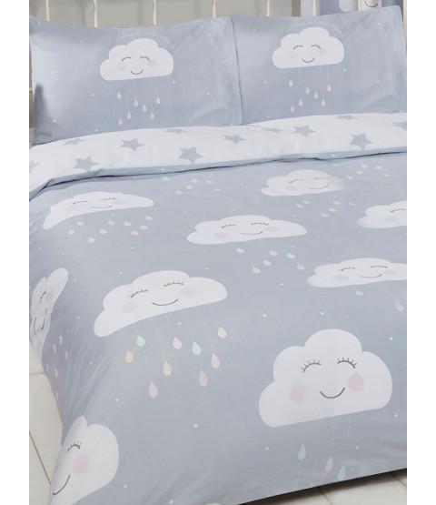 Happy Clouds Funda nórdica doble y funda de almohada