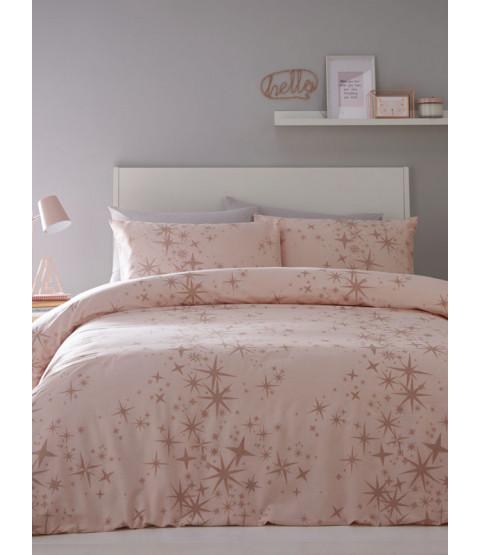 Glitter Stars Double Duvet Cover and Pillowcase Set