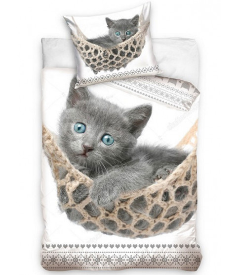 Kitten Hammock Single Cotton Duvet Cover Set