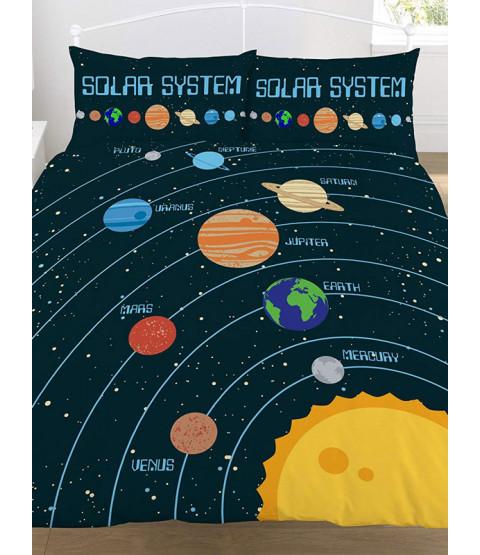 Set copripiumino e federa per doppio sistema solare