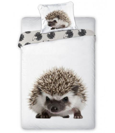 Hedgehog Single Cotton Duvet Cover and Pillowcase Set