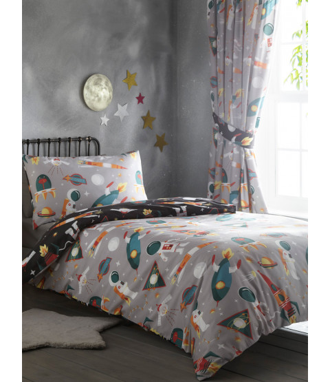 Spaceman Single Duvet Cover and Pillowcase Set