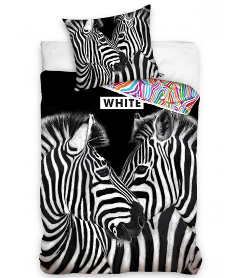 Zebras 100% Cotton Single Duvet Cover and Pillowcase Set
