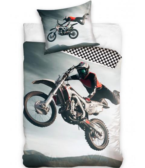 Motorcross Single Duvet Cover and Pillowcase Set - European Size